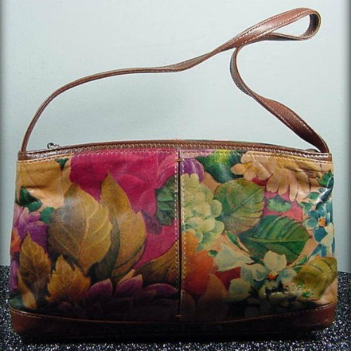 812f1bbbc617b Borghese Floral Leather Bag - Pretty Sweet Vintage