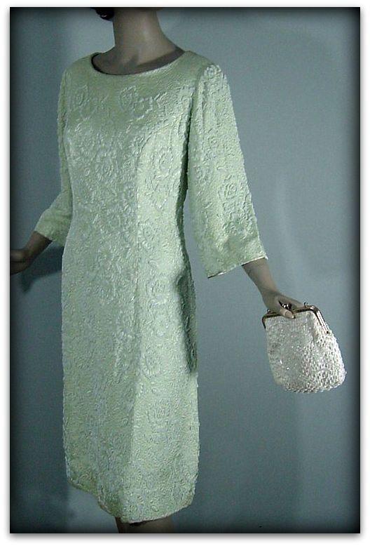 60s Andora Hong Kong Beaded Dress Pretty Sweet Vintage