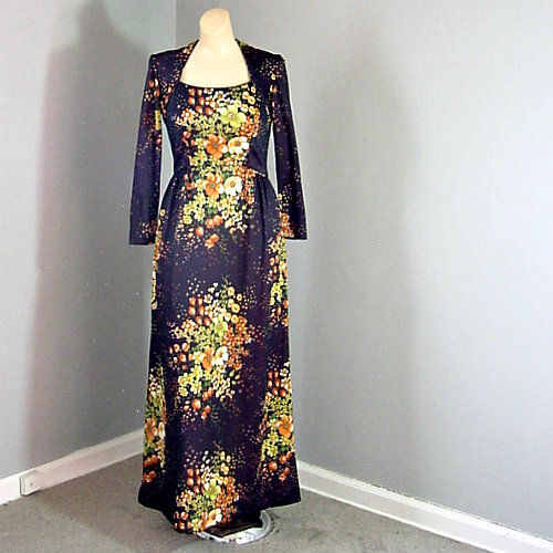 70s Andrea Gayle Maxi Dress Pretty Sweet Vintage