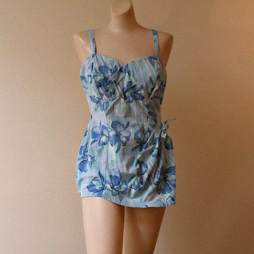 91786d8e6d67f 50s Bathing Beauty Catalina Swimsuit Medium Large - Pretty Sweet Vintage