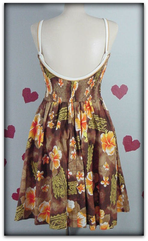 60s Frederick S Tropical Paradise Dress Pretty Sweet Vintage