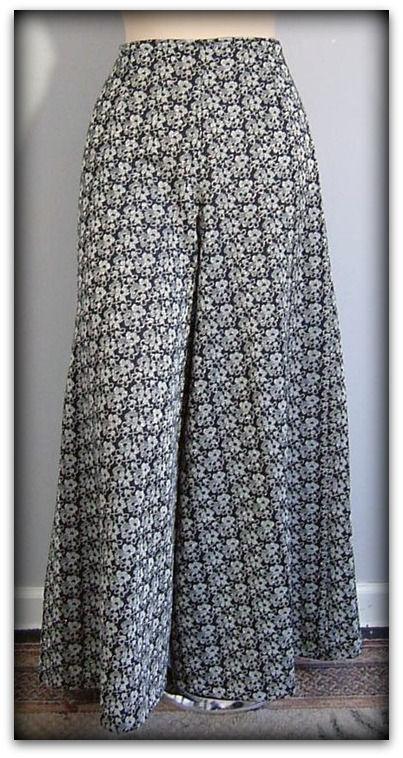 60s Silver Metallic Elephant Bell Pants Pretty Sweet Vintage