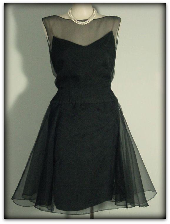 50s Helena Barbieri Chiffon Dress Pretty Sweet Vintage