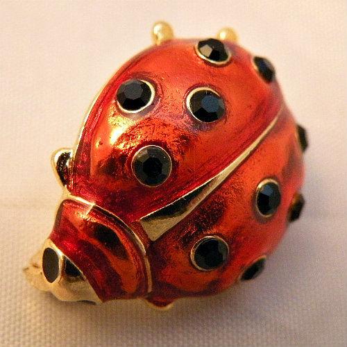 80s Fly Away Home Ladybug Pin Pretty Sweet Vintage