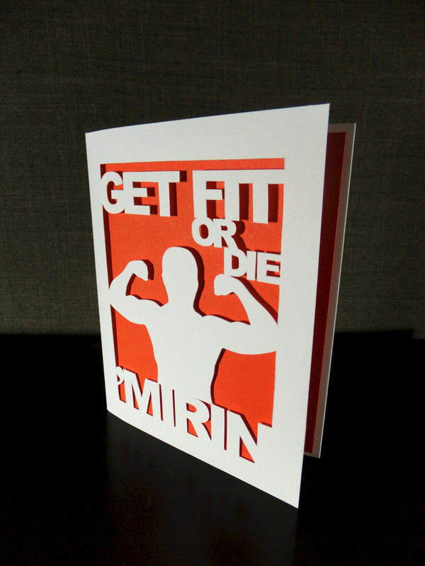 Get Fit Or Die Mirin Funny Greetin Card Fitness Lover Gift Workout Fitfam Musclehead Gym