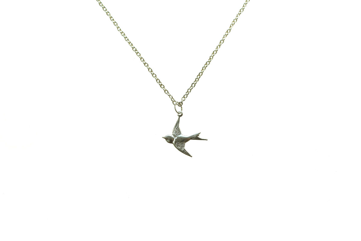 Silver Swallow Necklace 66