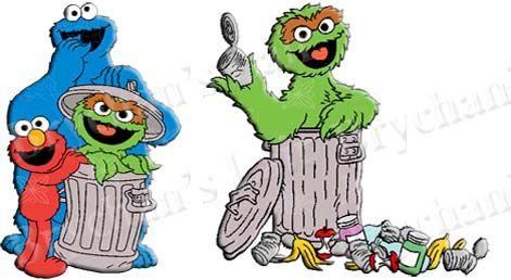 Sesame Street Cookie Monster Oscar Elmo Grosgrain Ribbon ...