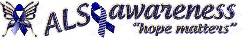 ALS Awareness Lou Gehrig's Disease Custom Designed Grosgrain Ribbon