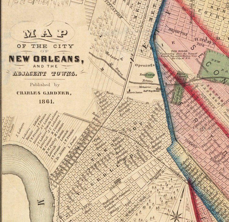 vintage new orleans map Old Map Of New Orleans 1861 Vintage Maps And Prints vintage new orleans map