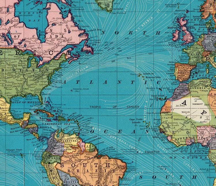 Vintage World Atlas 43