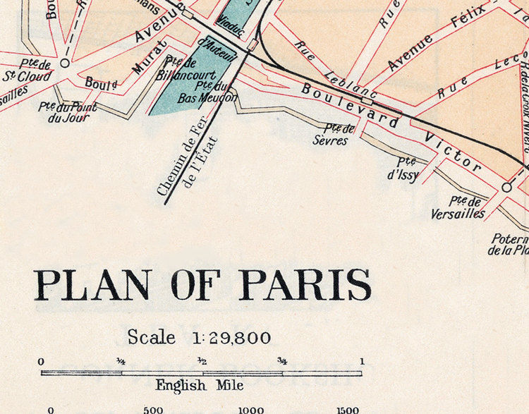 Map Of France 1800.Vintage Old Map Of Paris France 1800