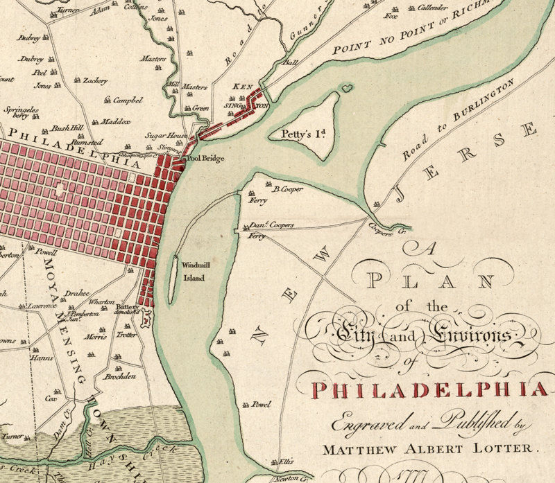 Old Map of Philadelphia 1777 Map F The United States on map of 50 states with names, map of south america, google america united states,