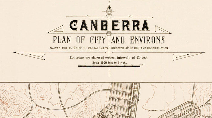 Map Canberra Australia.Vintage Map Of Canberra City Australia Oceania 1918
