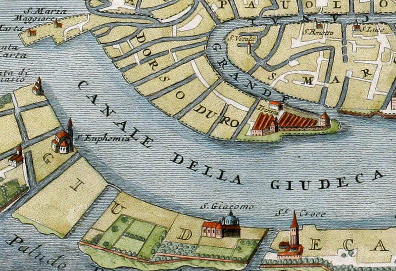 Old Map of Venice Italy 1720 Vintage Map of Venice ...