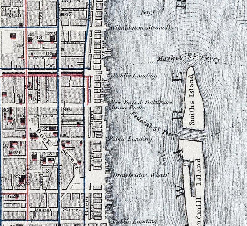 Old Map of Philadelphia, United States 1883 Illinois State Map To Phili on