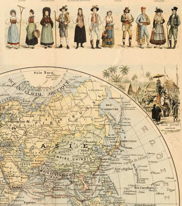 Old World Map 1900 People Of The World Old Maps And Vintage Prints