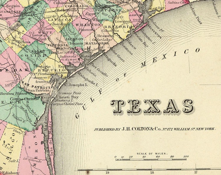 Old Map Of Texas.Old Map Texas 1856 United States Of America