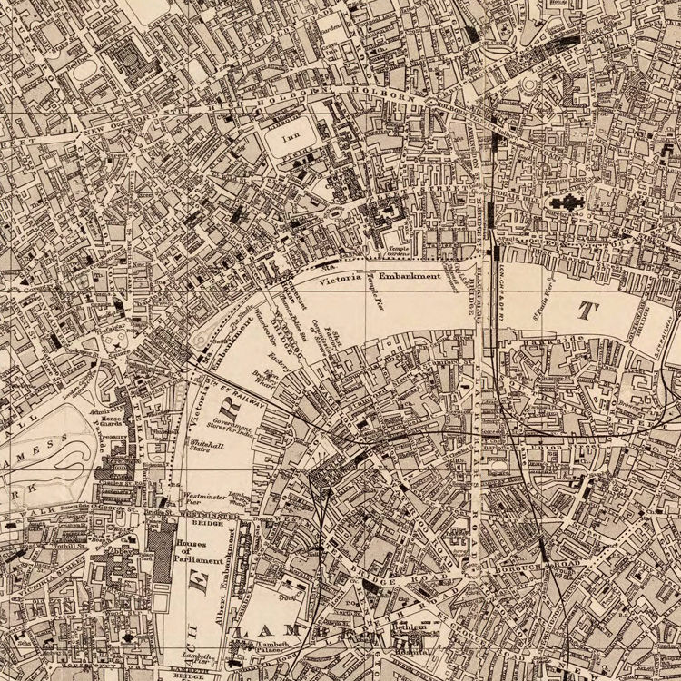 London England City Map.Old Map Of London England United Kingdom 1894
