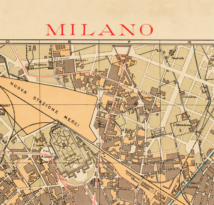 Milan Map Of Italy.Old Map Of Milan Milano City Plan Italia 1910 Antique Vintage Italy