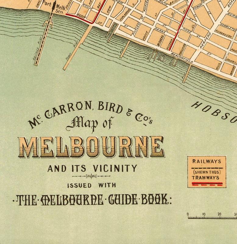 Australia Map Melbourne.Vintage Map Of Melbourne City 1913 Australia Oceania
