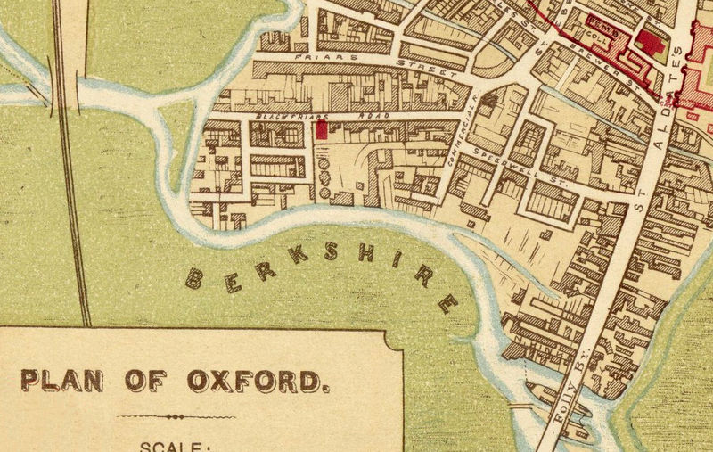 Old Map Of Oxford 1910 England United Kingdom Old Maps And