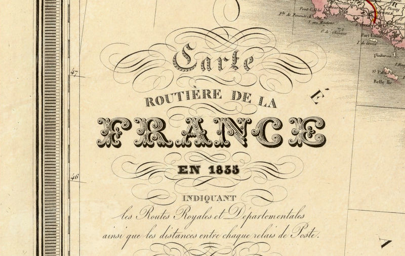 Old Map Of France.Old Map Of France 1835 Antique Map Of France