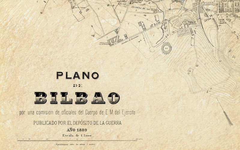 Bilbao On Map Of Spain.Old Map Of Bilbao 1899 Spain