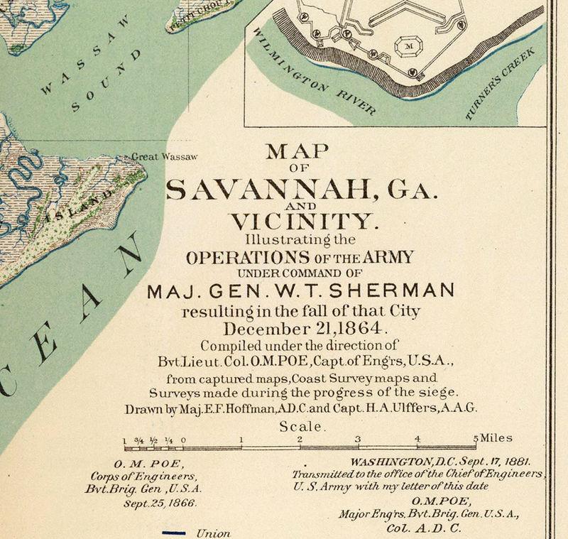 Map Of America Georgia.Vintage Map Of Savannah Ga Georgia 1895 United States Of America