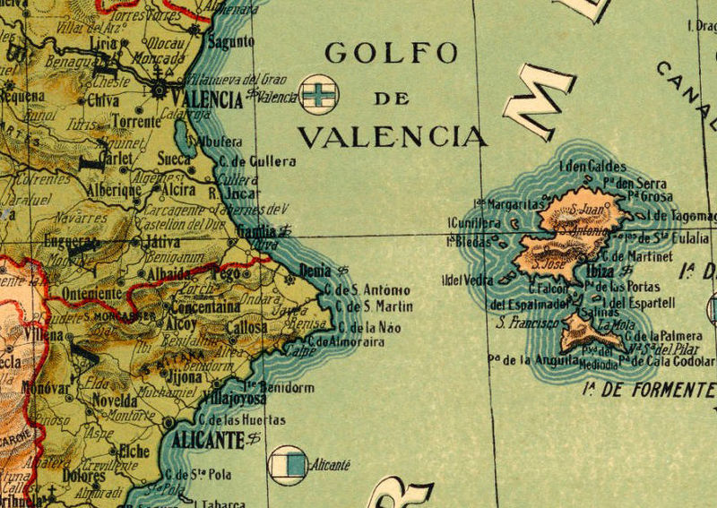 Map Of Spain Old.Old Map Of Spain 1900 Mapa Espana