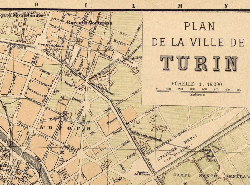Old Map Of Turin Torino Italy 1911 Old Maps And Vintage Prints
