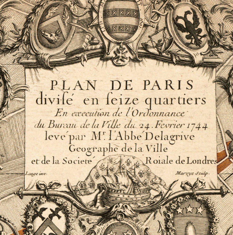 Old Map Of Paris France 1744 Old Maps And Vintage Prints