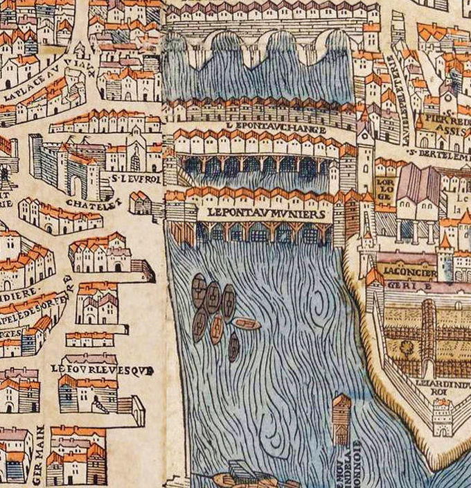 Old Map Of Paris France 1550 Old Maps And Vintage Prints
