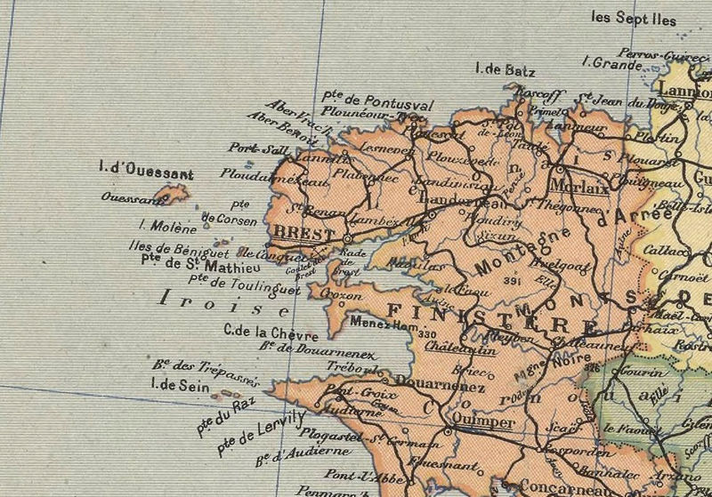 Old Map Of France.Old Map Of France 1919 Antique Map Of France