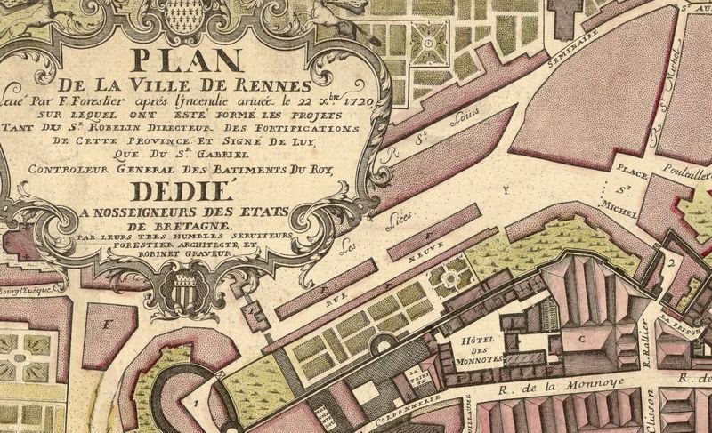 Map Of France Rennes.Old Map Of Rennes France 1726 Old Maps And Vintage Prints