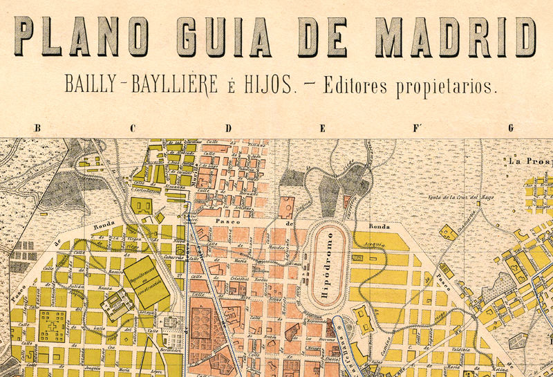 Full Map Of Spain.Old Map Of Madrid 1905 Spain Espana