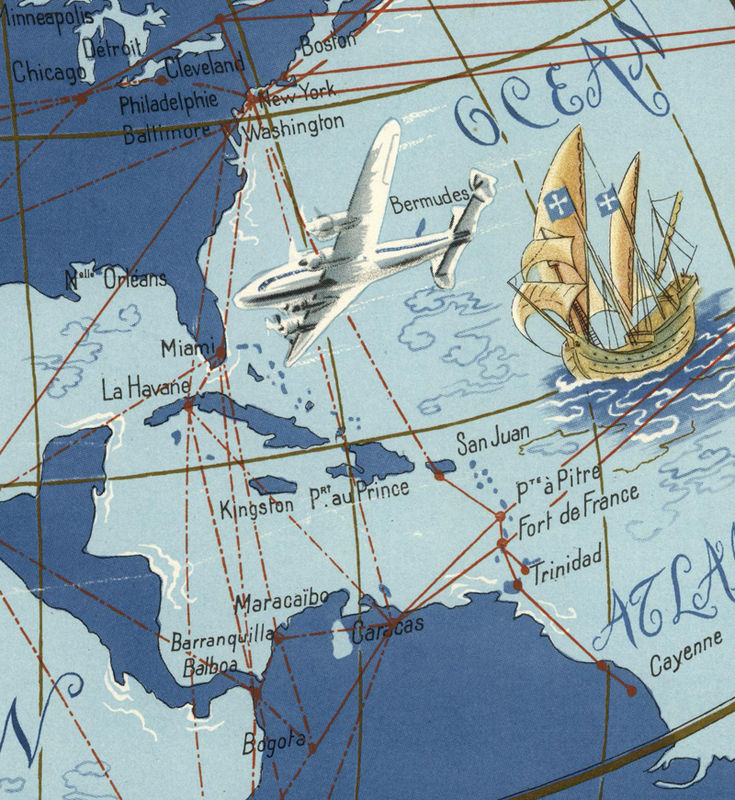 Map Of France Poster.World Map Air France Poster