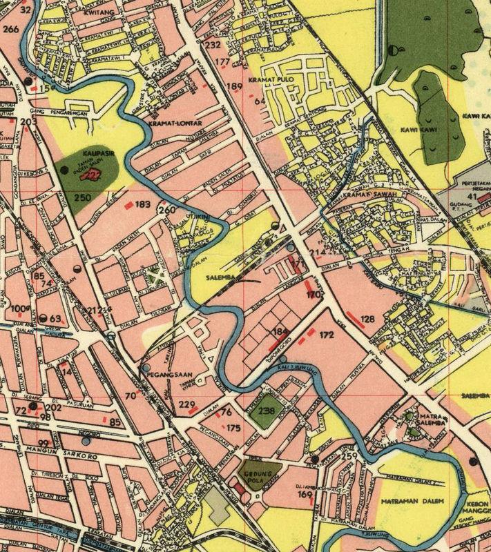 Map Jakarta.Old Map Of Jakarta Batavia Indonesia