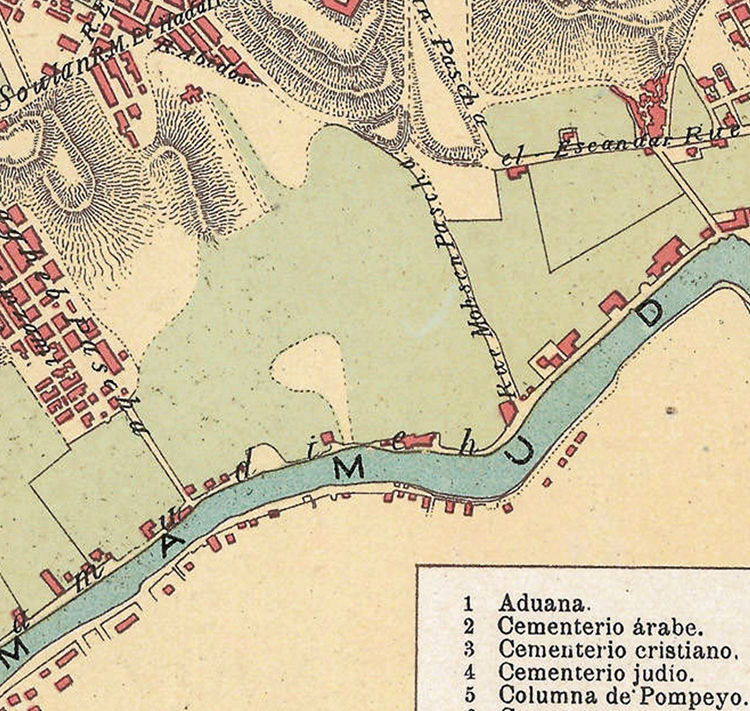 Vintage Map Of Alexandria Egypt Old Map 1900 Old Maps And Vintage