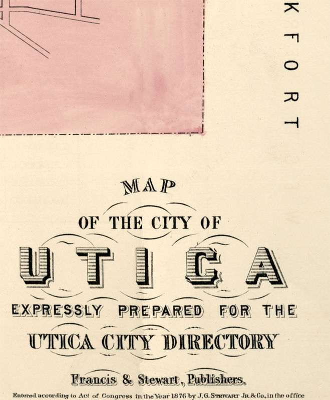 Old Map Of Utica New York 1876 Old Maps And Vintage Prints