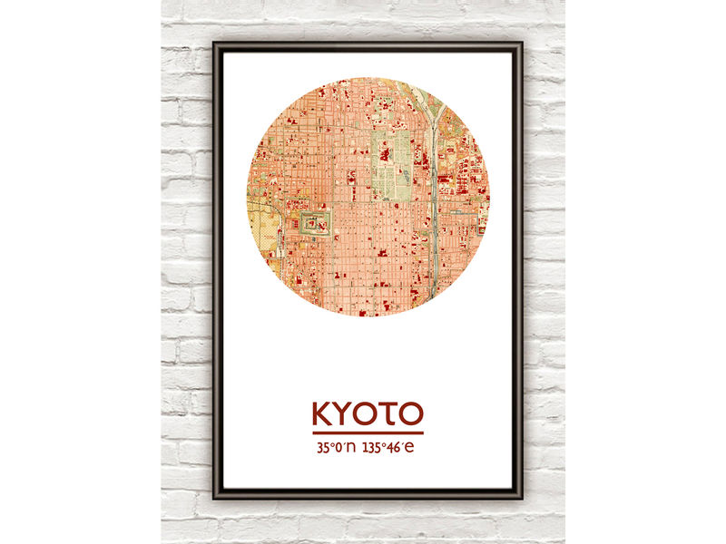 KYOTO - city poster - city map poster print on recycling posters, planning posters, city design posters, city mural posters, radio posters, golf posters, vintage city posters, muenchen city posters, train posters, koln city posters, statistics posters, library posters, water posters, clothing posters, vision posters, city neighborhood posters, city travel posters, culture posters, home posters,