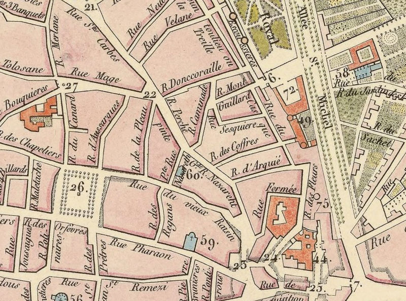 Map Of France Toulouse.Old Map Of Toulouse France 1850