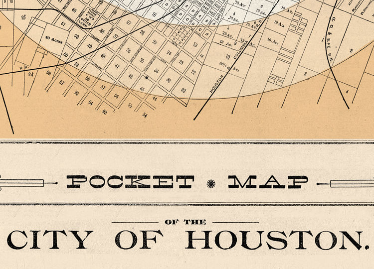 Old Map Of Texas.Old Map Of Houston Texas 1890
