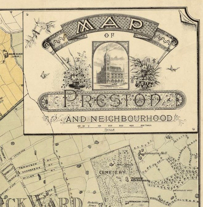 Map Of England Vintage.Old Preston Map 1890 England United Kingdom Old Maps And Vintage