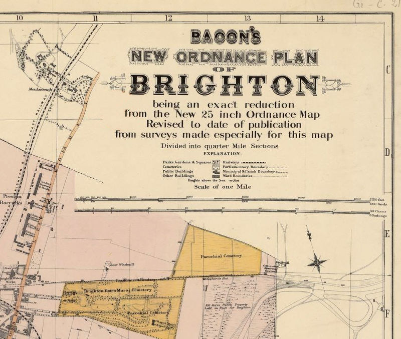 Old Brighton Map 1890 England United Kingdom Old Maps And Vintage