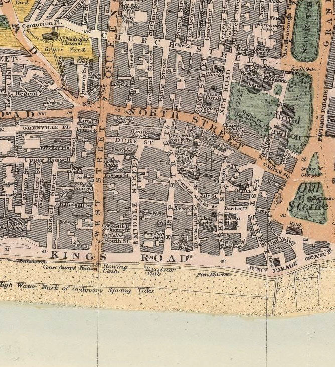 Map Of England Brighton.Old Brighton Map 1890 England United Kingdom