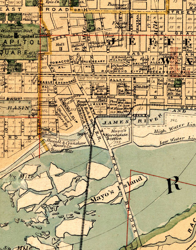 Old Map Of Richmond Virginia 1876 Old Maps And Vintage Prints