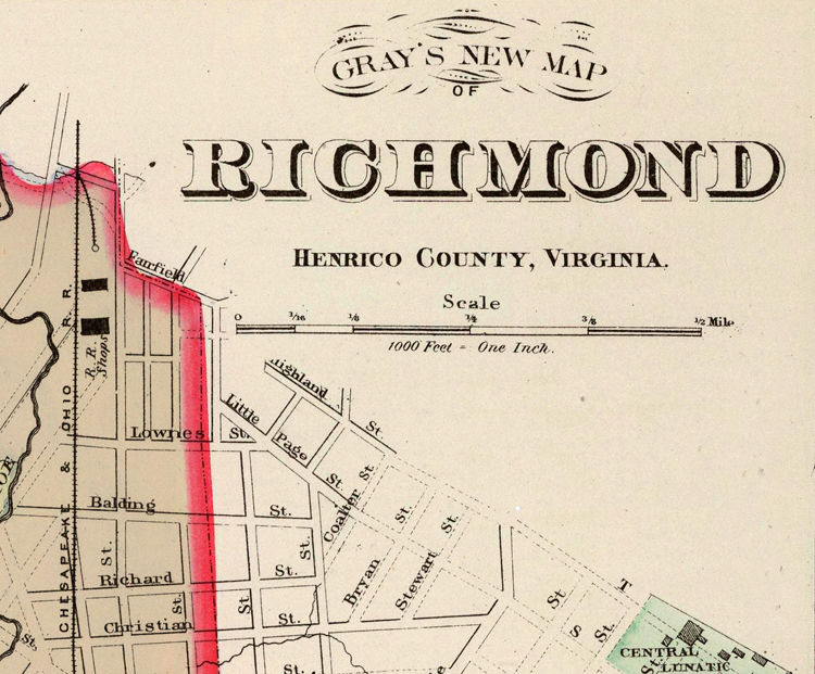 Old Map Of Richmond Virginia 1884 Old Maps And Vintage Prints