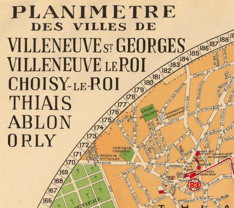 old map of villeneuve saint georges villeneuve le roi. Black Bedroom Furniture Sets. Home Design Ideas