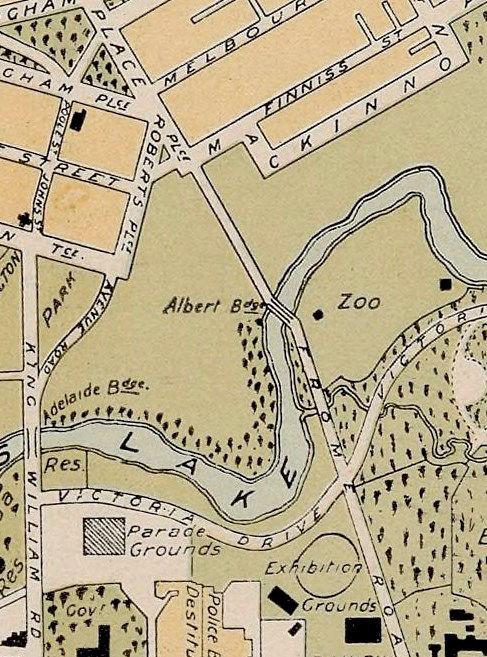 Adelaide Map Of Australia.Vintage Map Of Adelaide City Australia Oceania 1906