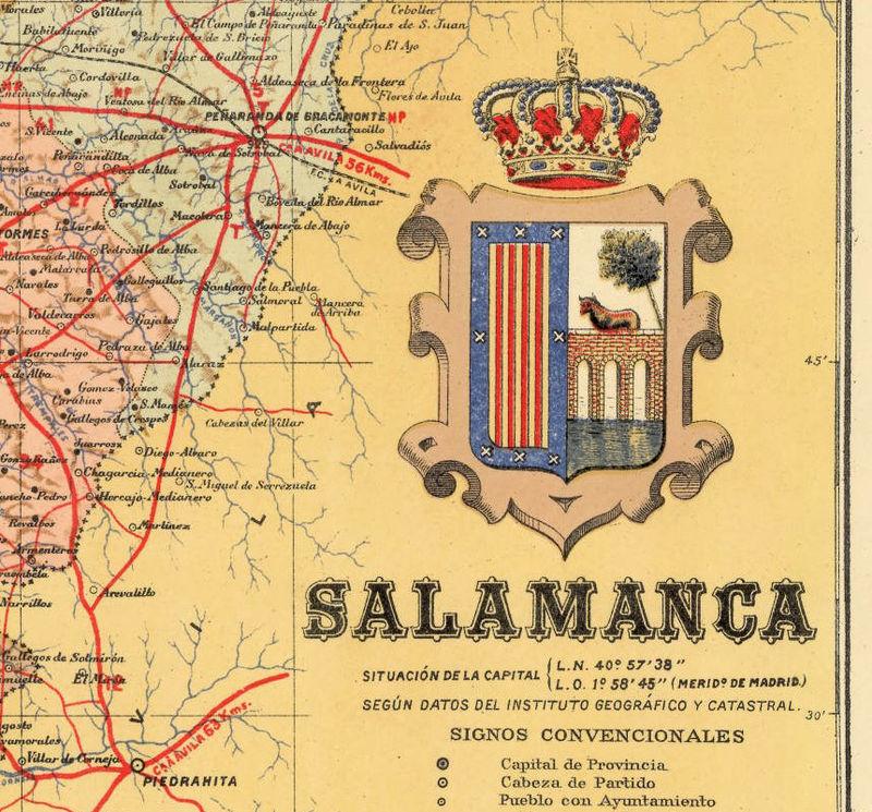 Map Of Spain Old.Old Map Of Salamanca Region 1900 Spain